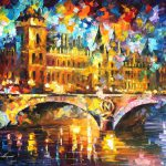 River City Original Oil Painting Canvas Leonid