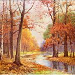 Robert Wood Autumn Glade Painting Best Paintings