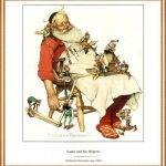 Rockwell Most Famous Painting Norman Santa