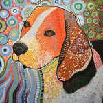 Rocky Abstract Dog Art Beagle Painting Amy