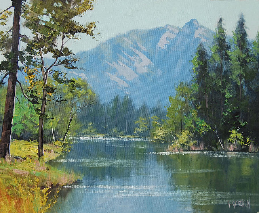 Rocky Mountains Painting Graham