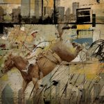 Rodeo Abstract Painting Corporate Art Task