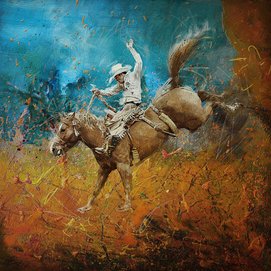 Rodeo Painting Corporate Art Task