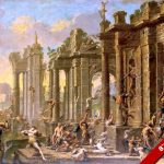 Roman Bacchus Festival Among Ruins Ancient Rome Painting Art Canvas Print