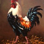 Rooster Master Yard Painting Dusan