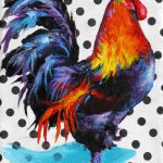 Rooster Painting Print Art Colorful