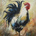 Rooster Paintings Vickie Wade Fine