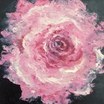 Rose Art Flower Painting Pink
