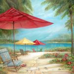 Ruane Manning Relaxing Paradise Painting Print