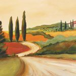 Rural Italian Landscape Painting Leigh