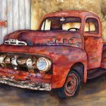 Rusty Crusty Ford Truck Painting Diane