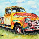 Rusty Old Truck Painting Maria