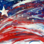 Saatchi Art Deconstructed American Flag Painting