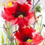 Saatchi Art Dreamy Poppies Iii Painting Karin
