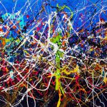 Saatchi Art Mind Blowing Large Dripping Pouring Pollock Style Painting