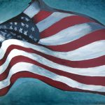 Saatchi Art Original Painting American Flag Old Glory Red White Blue Artwork