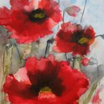 Saatchi Art Red Poppies Painting Karin