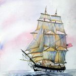 Sailing Ship Painting Lynne
