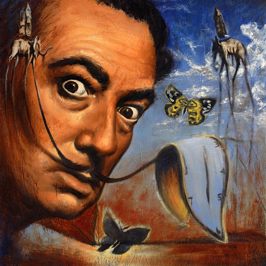 Salvador Dali Portrait Painting Travis