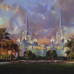 San Diego California Lds Temple Painting Jeremy