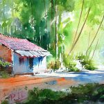 Scenery Drawing Watercolor Painting Beginners