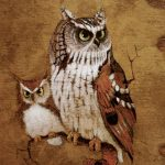 Screech Owls Painting Richard