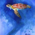 Sea Turtle Art Print Original Watercolor