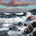Seascape Oil Painting Boias