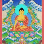 Shakyamuni Buddha Thangka Painting Canvas
