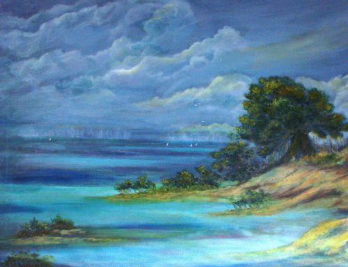 Shields Fine Art Daily Paintings Key West Seascape Oil Phyllis Contemporary