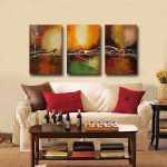 Shop Hand Painted Oil Abstract Canvas Art Set Multi Shipping Today