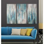 Shop Hand Painted Sea Clarity Piece Wrapped Canvas Art Set Shipping