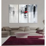 Shop Hand Painted Touch Love Piece Wrapped Canvas Art Set