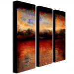 Shop Michelle Calkins Red Skies Night Canvas Art Set Shipping Today