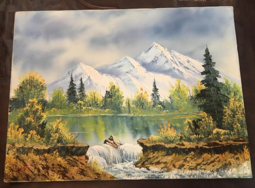 Sister Got Original Signed Bob Ross Painting Birthday