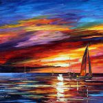 Sky Beauty Palette Knife Oil Painting Canvas Leonid
