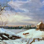 Snow Scene New England Painting American