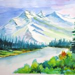 Snowy Mountains Painting Vijayendra