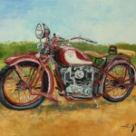 Sokol Polish Motorcycle Painting Luke