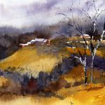 Solstice Day Watercolor Plein Air Painting Vermont Artist Tony