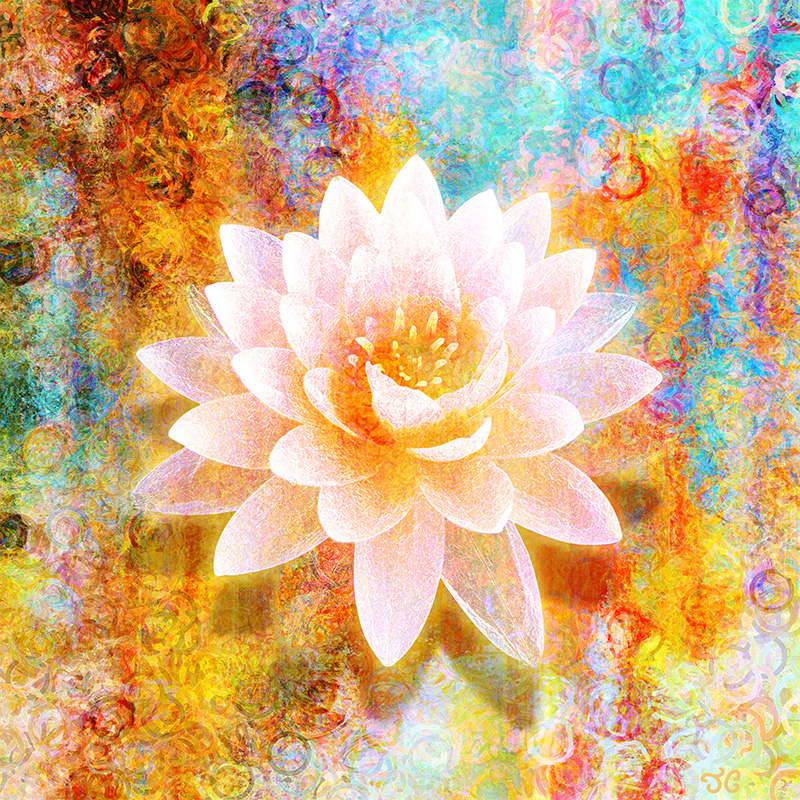 Spiritual Abstract Painting Lotus Flower Joy