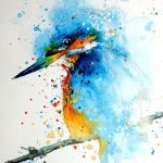 Splashed Watercolor Paintings Tilen Bored