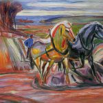 Spring Plowing Edvard Munch Hand Painted Oil Painting Paintingmania