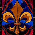 Stained Glass Fleur Lis Painting Elaine