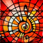 Stained Glass Painting Musical Creative