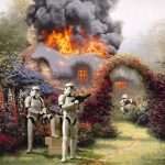 Star Wars Invades Thomas Kinkade Paintings Incredible