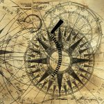 Steampunk Gold Compass Painting James Christopher