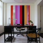 Striped Home Office Accent Wall Ideas