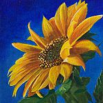 Sunflower Acrylics Painting Giselle