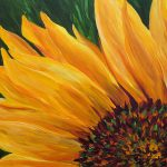 Sunflower Oil Painting Mary